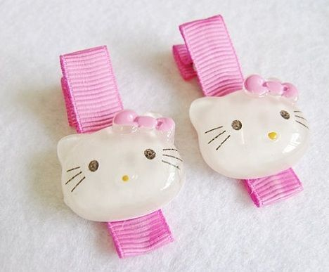 clips hello kitty pelo brillo