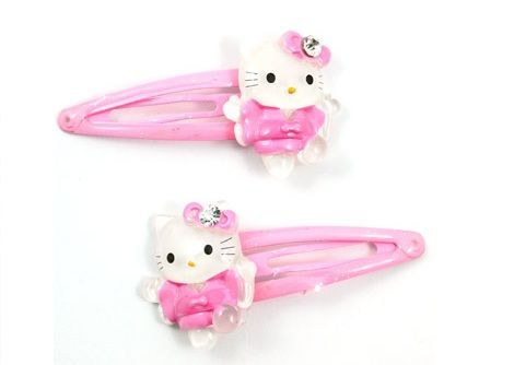 clips hello kitty pelo rosas