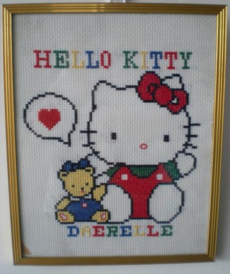 Cuadro Hello Kitty a punto de cruz