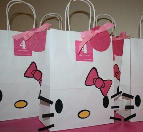 fiesta cumpleanos hello kitty bolsas