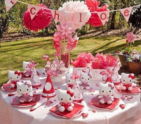 fiesta cumpleanos hello kitty mesa ninos