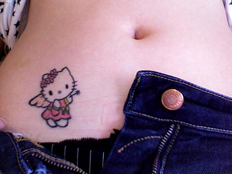 Hello Kitty tatuaje hada