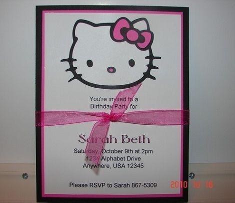 invitaciones caseras hello kitty tarjeta