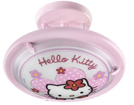 lamparas hello kitty plafon redondo