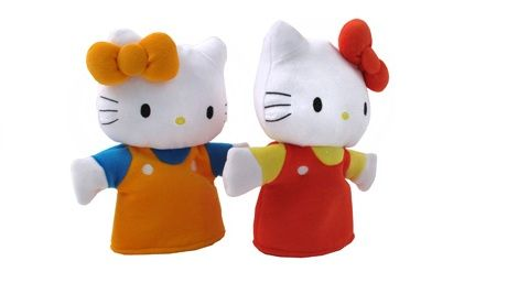 marionetas hello kitty hechas