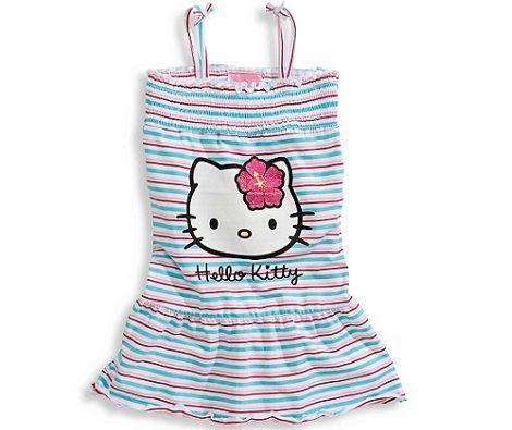 ropa bebe hello kitty vestido rayas