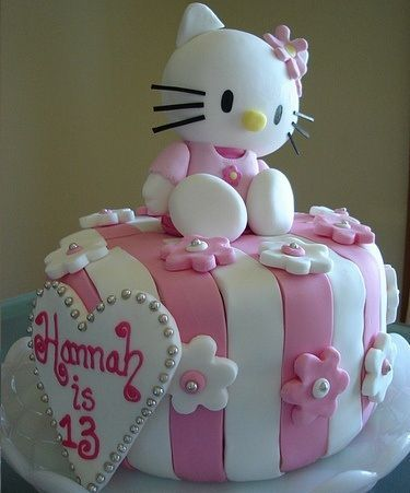 tartas hello kitty cumples rayas