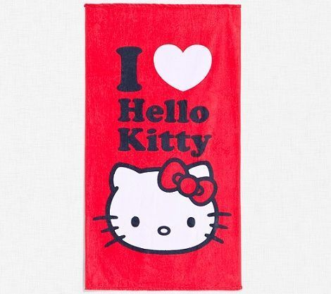 toallas hello kitty roja