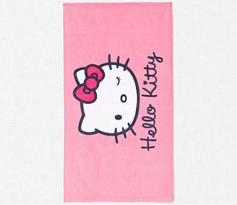 toallas hello kitty rosa