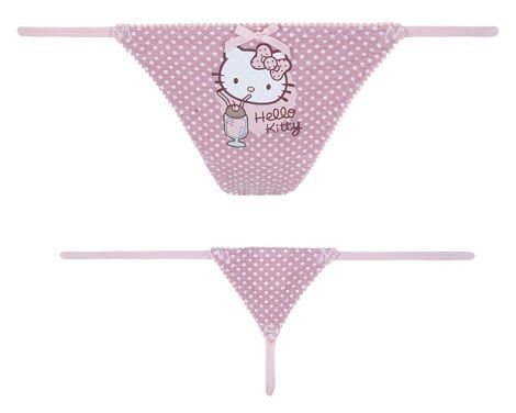 bragas hello kitty blanco tanga