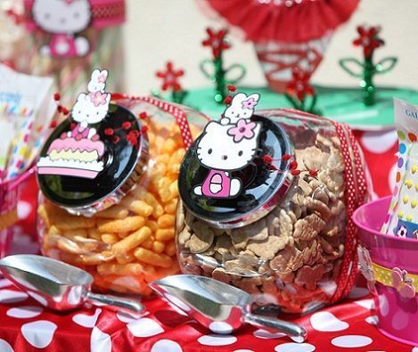 cumpleanos hello kitty jardin chuches
