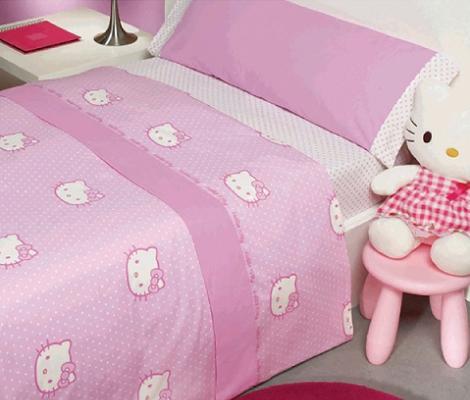 Edredón rosa de Hello Kitty