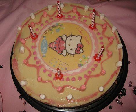 fiesta cumpleanos kitty tarta