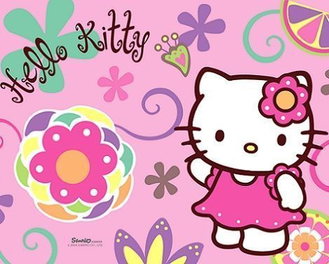 fotos hello kitty flores