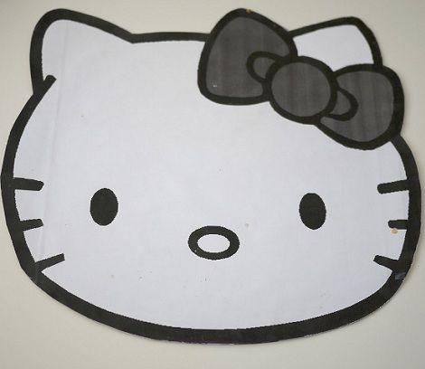 hacer una tarta de hello kitty plantilla