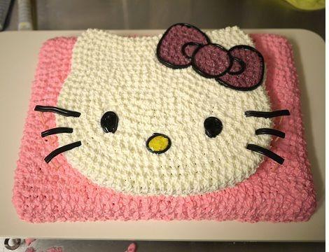 hacer una tarta de hello kitty