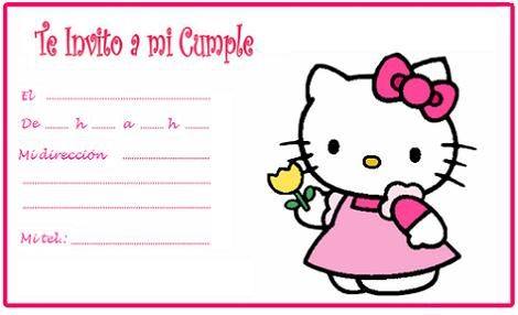 Invitación Hello Kitty gratuita