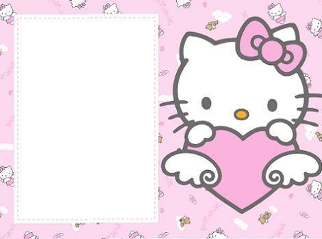 invitaciones hello kitty rosas