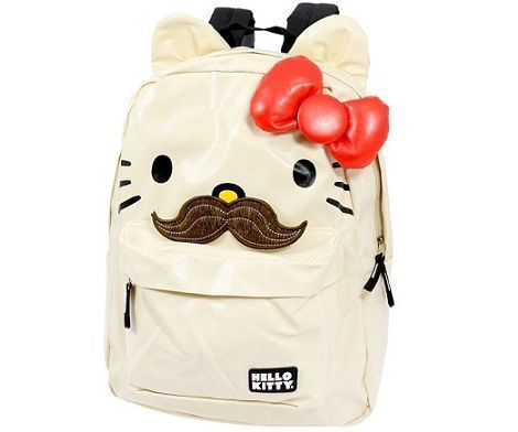 mochilas hello kitty bigote