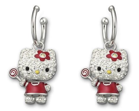 Pendientes Hello Kitty de Swarovski