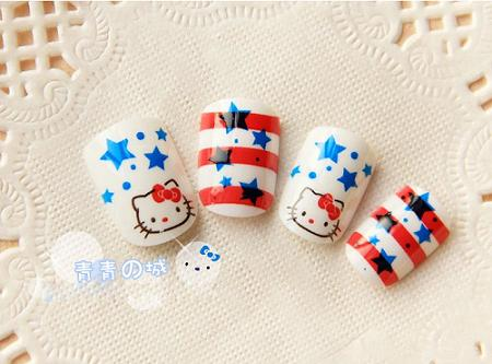 Uñas postizas Hello Kitty