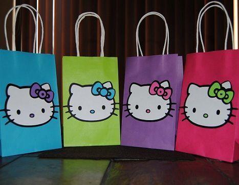 bolsas cumple hello kitty colores
