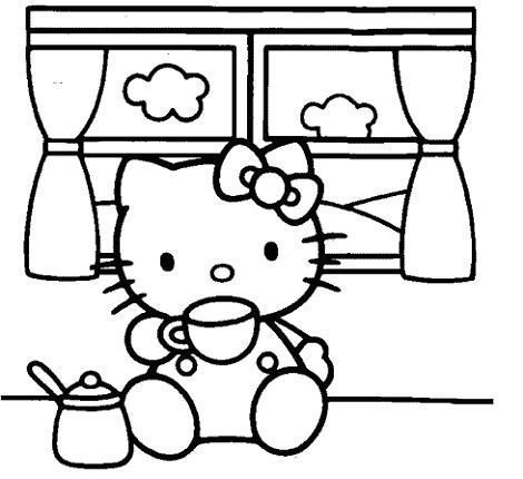 Colorear imágenes de Hello Kitty