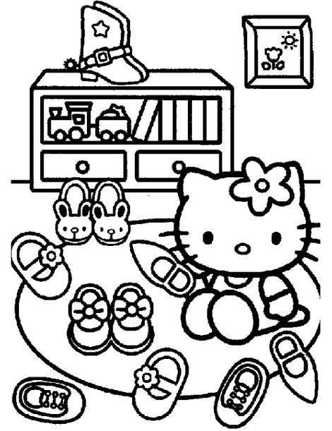 Dibujo Hello Kitty para colorear
