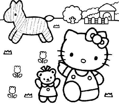 dibujos hello kitty imprimir gratis caballo