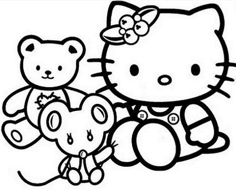 dibujos hello kitty imprimir gratis ositos