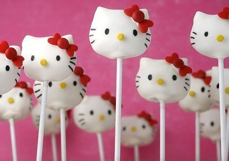 dulces hello kitty cake pops