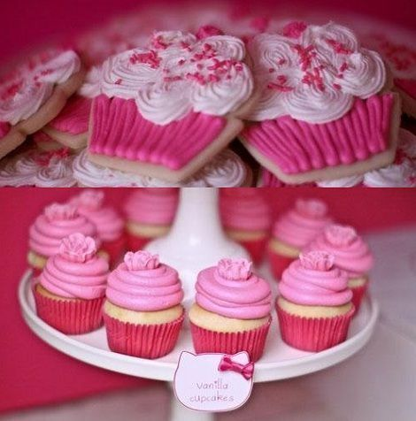 fiesta hello kitty cupcakes