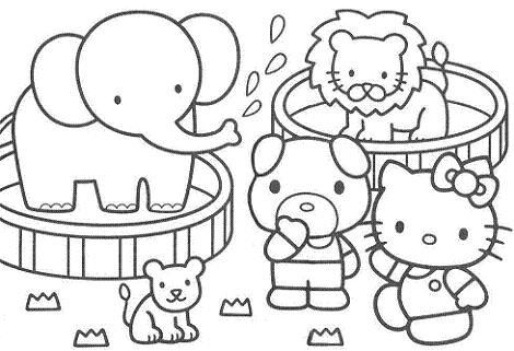 Imágenes Hello Kitty para colorear