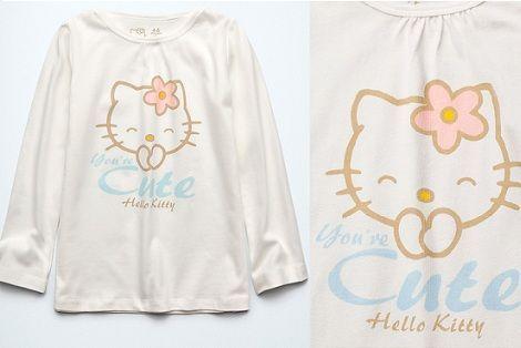 pijama hello kitty zara camiseta