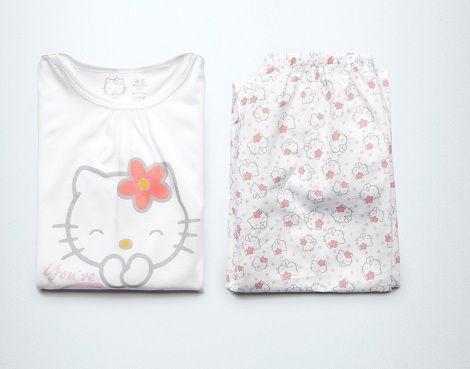 pijama hello kitty zara rosa
