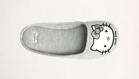 Zapatilla gris de Hello Kitty