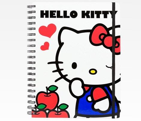 cuaderno de Kitty con dibujo