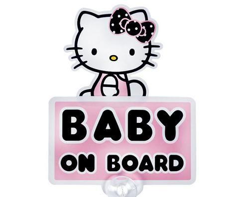 Pegatina para el coche de Hello Kitty bebé abordo