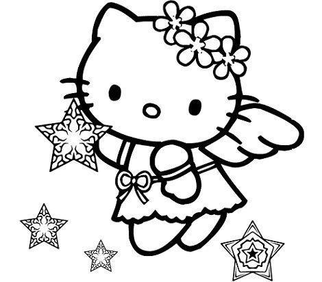dibujos hello kitty navidad