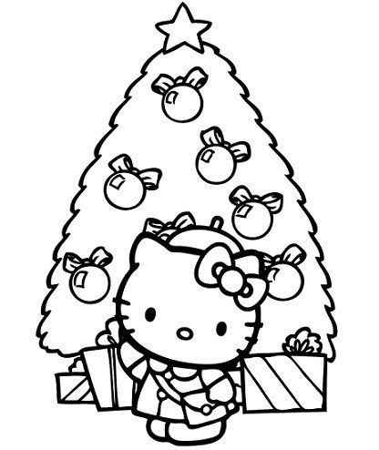 Colorear Hello Kitty Navidad Hello Kitty En Mundokittycom