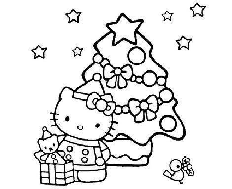 Colorear Hello Kitty Navidad Hello Kitty En Mundokittycom