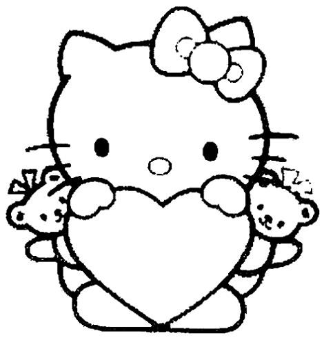Dibujos De Hello Kitty De San Valentín Para Imprimir Hello Kitty