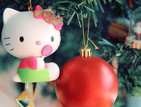 adorno de navidad de Hello Kitty