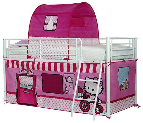 Litera de Hello Kitty con tienda para jugar