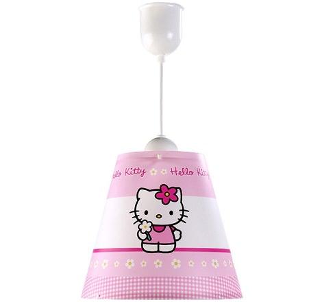 lámpara infantil de hello kitty de techo
