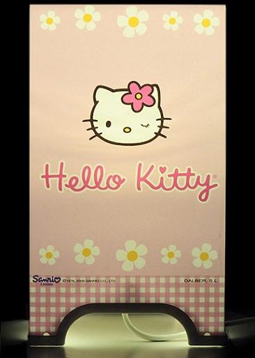 lámparas infantiles de Leroy Merlín de hello kitty