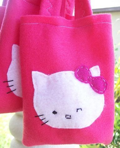 6 bolsas de cumpleanos de hello kitty