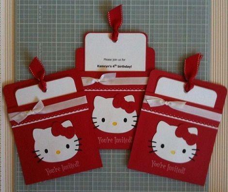 tarjetas de cumpleaños de Hello Kitty caseras