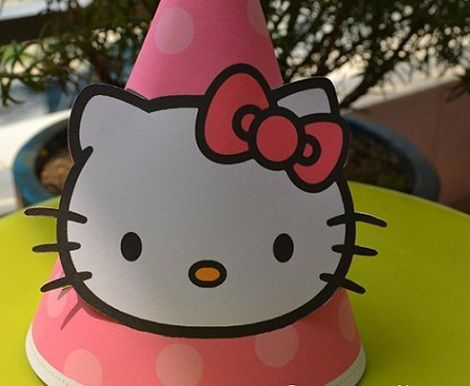 manualidades caseras fiesta hello kitty