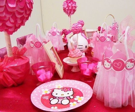 fiesta de pijamas de hello kitty